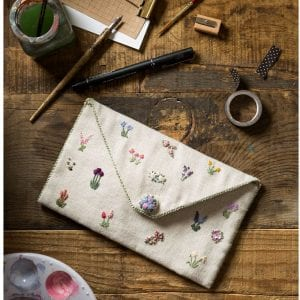 Pencil case or clutch bag styled shot for book