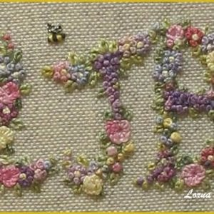 Embroidered Country Gardens Monogrammed Scissorkeeper section