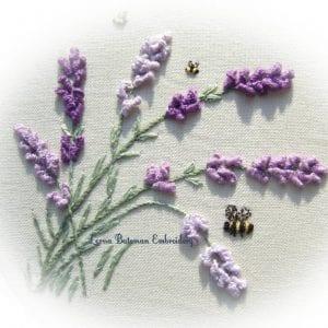 Lavender drizzle stitch