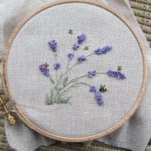 Lavender in the Breeze drizzle stitch
