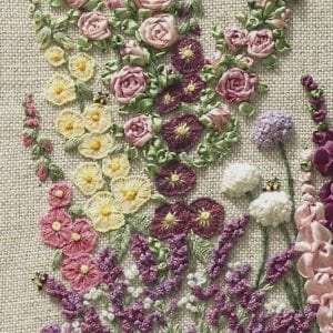 My Cottage Garden Pattern Print Lorna Bateman Embroidery