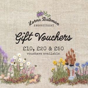 Lorna Bateman Embroidery gift vouchers