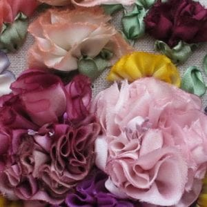 Silk ribbon workshop with Lorna Bateman