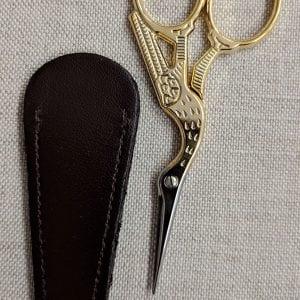 Gold-scissors-with-sheath