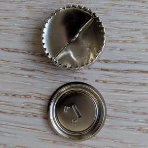 Brass button medium from bottom