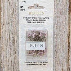 Bohin-Murano-glass-pins-Baby-pink-web